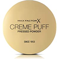 Max Factor Creme Puff Pressed Compact Powder, Moisturising, Glowing Formula for All Skin Types, 005 Translucent Matte, 21 g