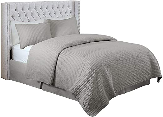 Madison Park Solid Upholstery Headboard