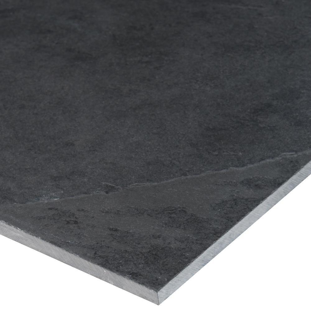 MS International Montauk Black 12 in. x 24 in. Gauged Slate Floor and Wall Tile (10 sq. ft. / case)