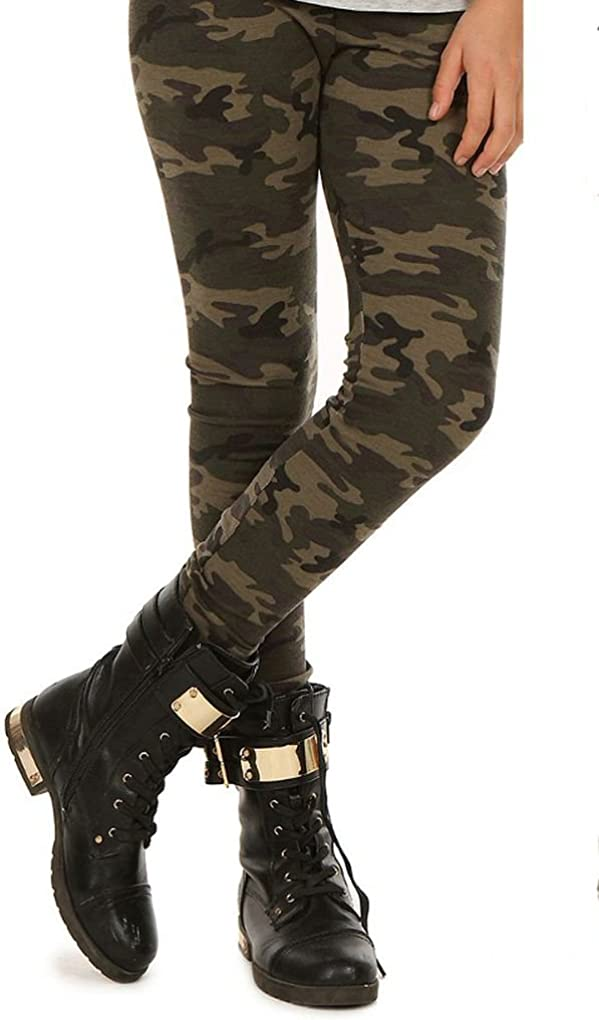 militari invernali 116-158 autunno Dykmod Camouflage Leggings termici da ragazza