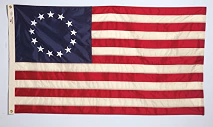 Allied Flag Outdoor Nylon Historical Flag, Betsy Ross, 3-Foot x-Foot 5-Foot