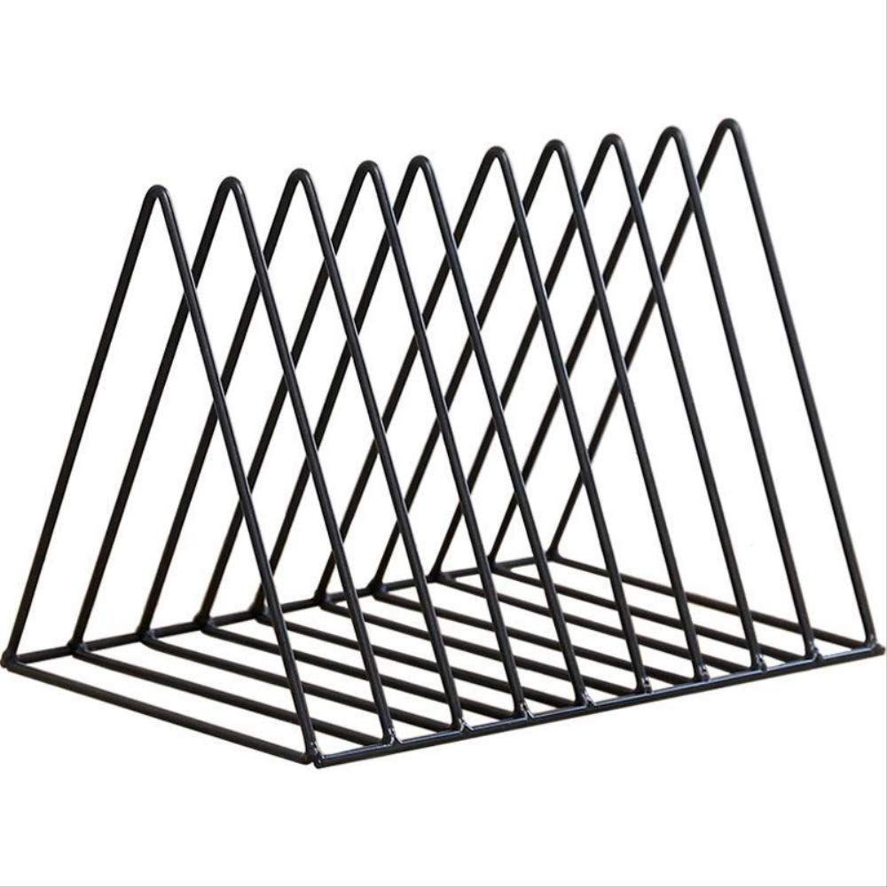 Porta Documenti da Scrivania Titolare Dellorganizzatore Di Cancelleria Per Rack Triangolo Nordico Semplice File Di Scaffale In Ferro Battuto Rivista Bookend Office Ferro Desktop Rack