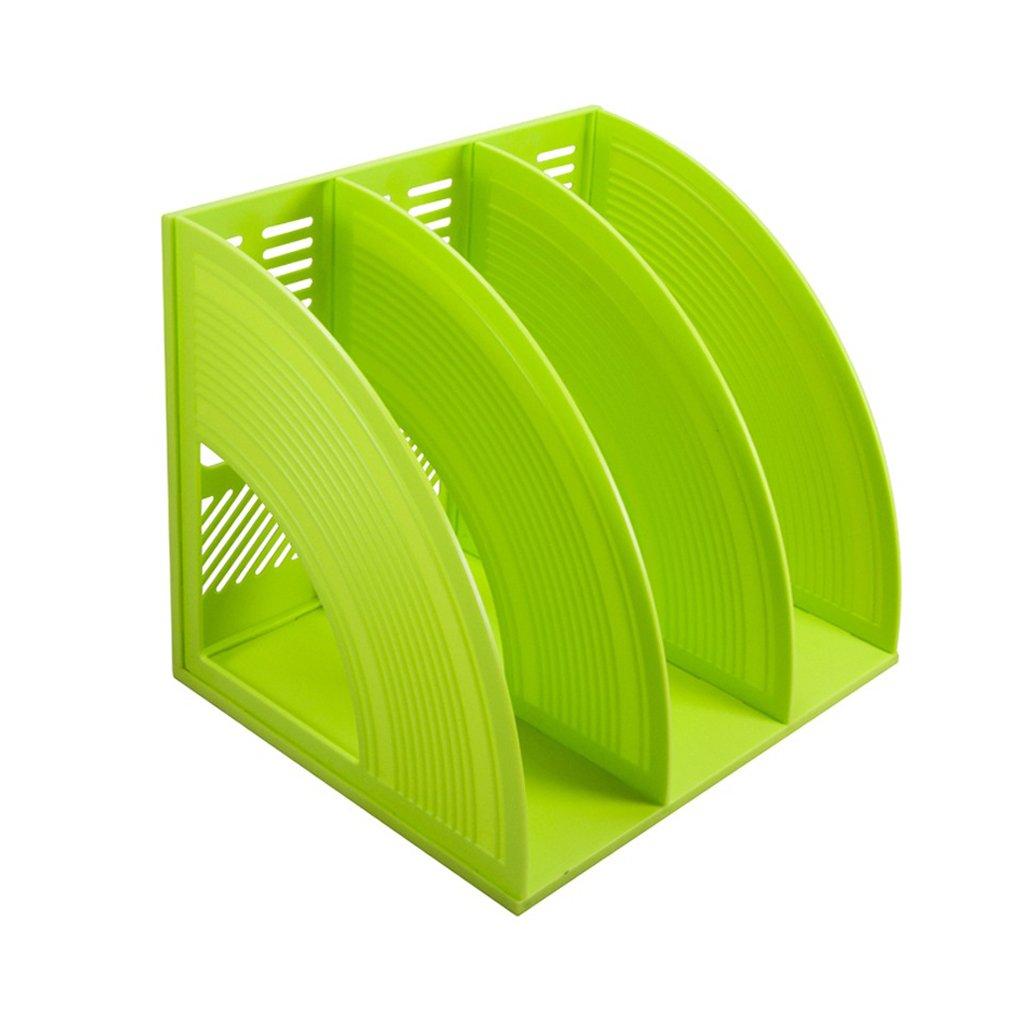 Organizador de archivos SAYEEC de plástico resistente con tres archivadores para guardar y mostrar documentos, revistas o archivos, manteniendo ordenado el ...