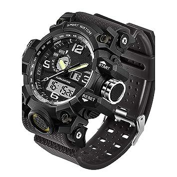 WLH Hombre Reloj Deportivo - Reloj Elegante - Reloj De Pulsera Japonés Resistente Al Agua -