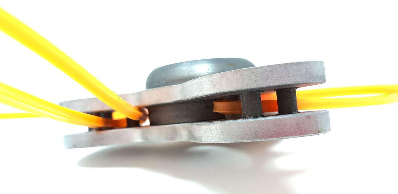 Cabezal universal para desbrozadora Trinità de aluminio: Amazon.es ...