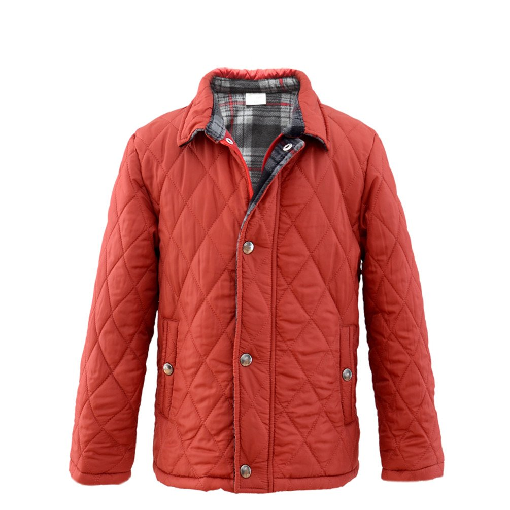 M2C Boys Winter Light Diamond Quilted Fleece Lined Barn Padded Jacket 6/7 Red