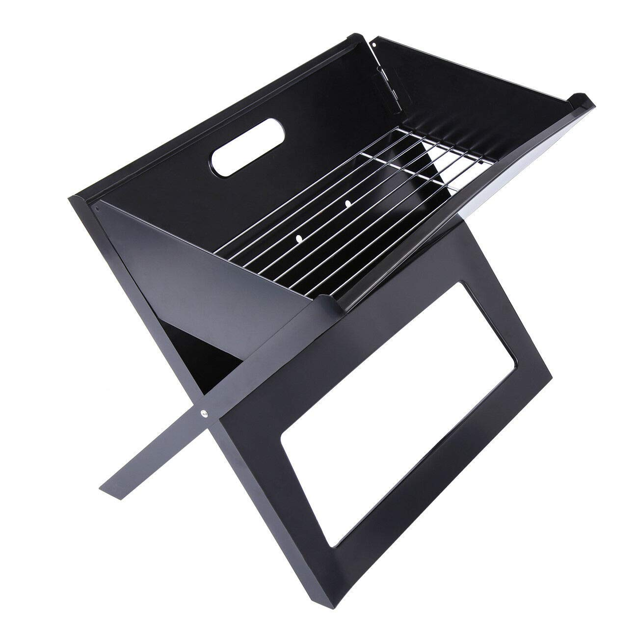 Portable Compact Barbecue BBQ Grill Charcoal Stand Bars Smoker Outdoor Camping Cooker