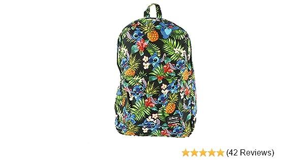 9d0a4365d02 Amazon.com  Loungefly Disney Stitch Hawaiian Backpack Multi  Shoes