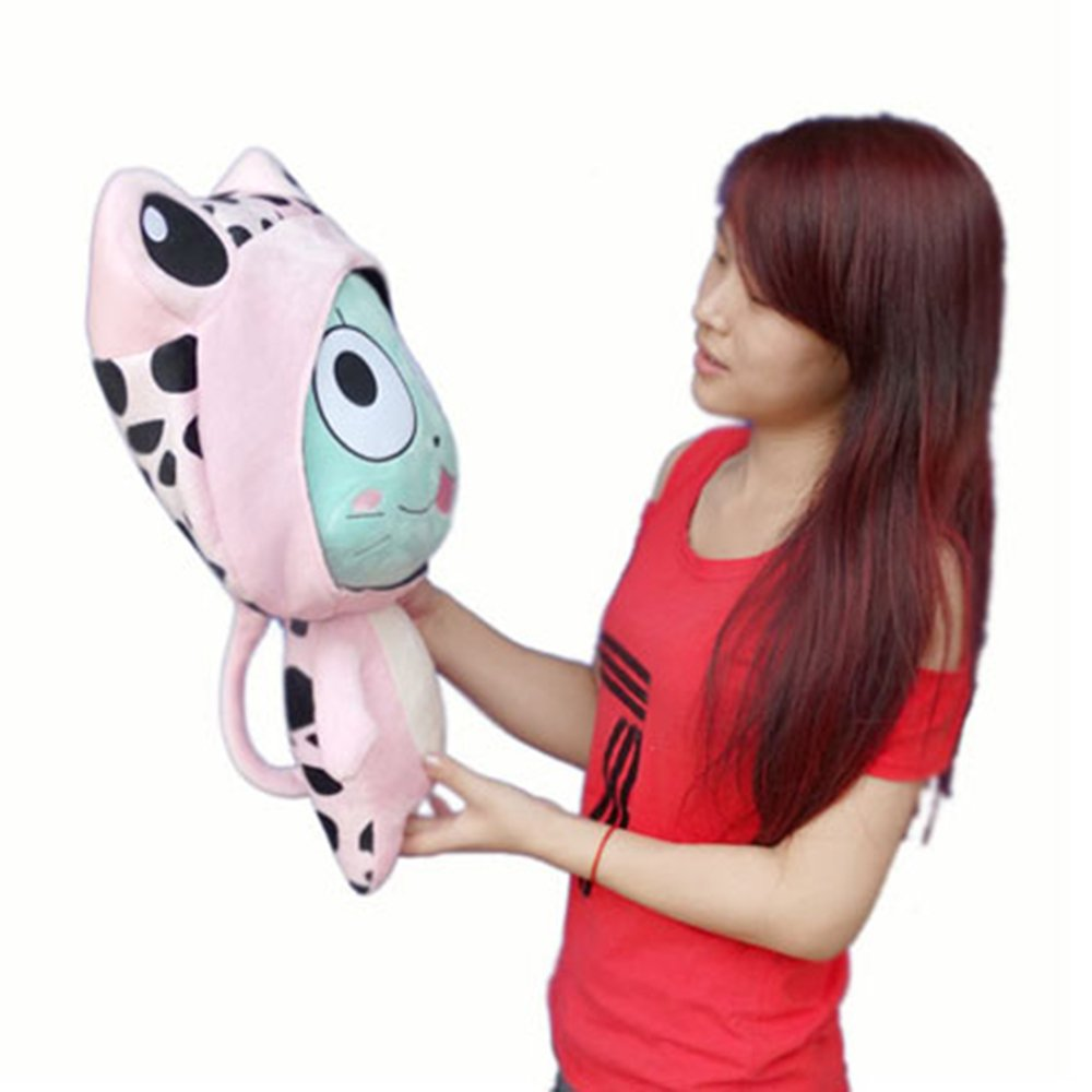 Rain's Pan Anime Fairy Tail Frosch Cosplay Plush Pillow Cushion Toy Dolls Pink 23'' by Rain's Pan Plush Toy Pillows (Image #5)