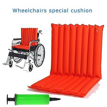 WAOBE Sillas de ruedas Cojín Antiescaras Cojín de respaldo Respirable Confort Accesorios para sillas de ruedas Cojines inflables anti-decúbito: Amazon.es: ...
