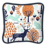 Carousel Designs Navy and Orange Woodland Decorative Pillow Square