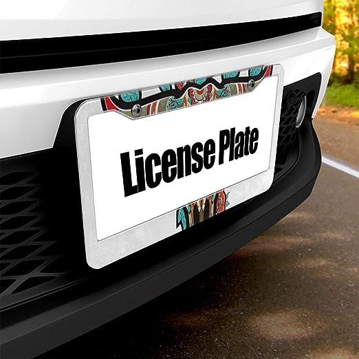 Text Graphic Custom Personalized MicroToo License Plate Frame 12.25x6.5 Precise Size Premium Alluminium Screws /& Caps Included