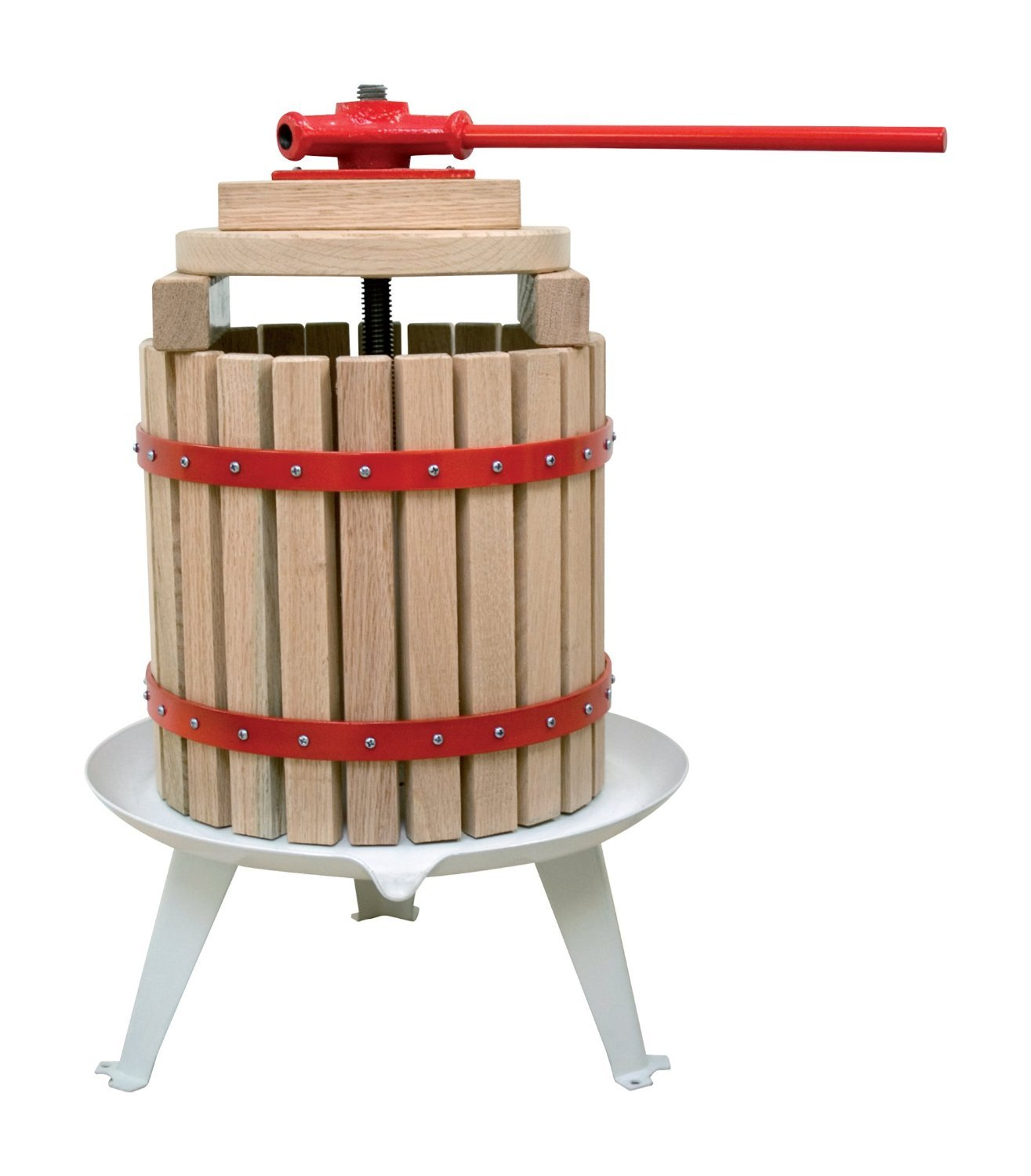 Useful UH-FP165 1.6 Gallon Solid Wood Basket Fruit and wine Press by Useful. (Image #8)