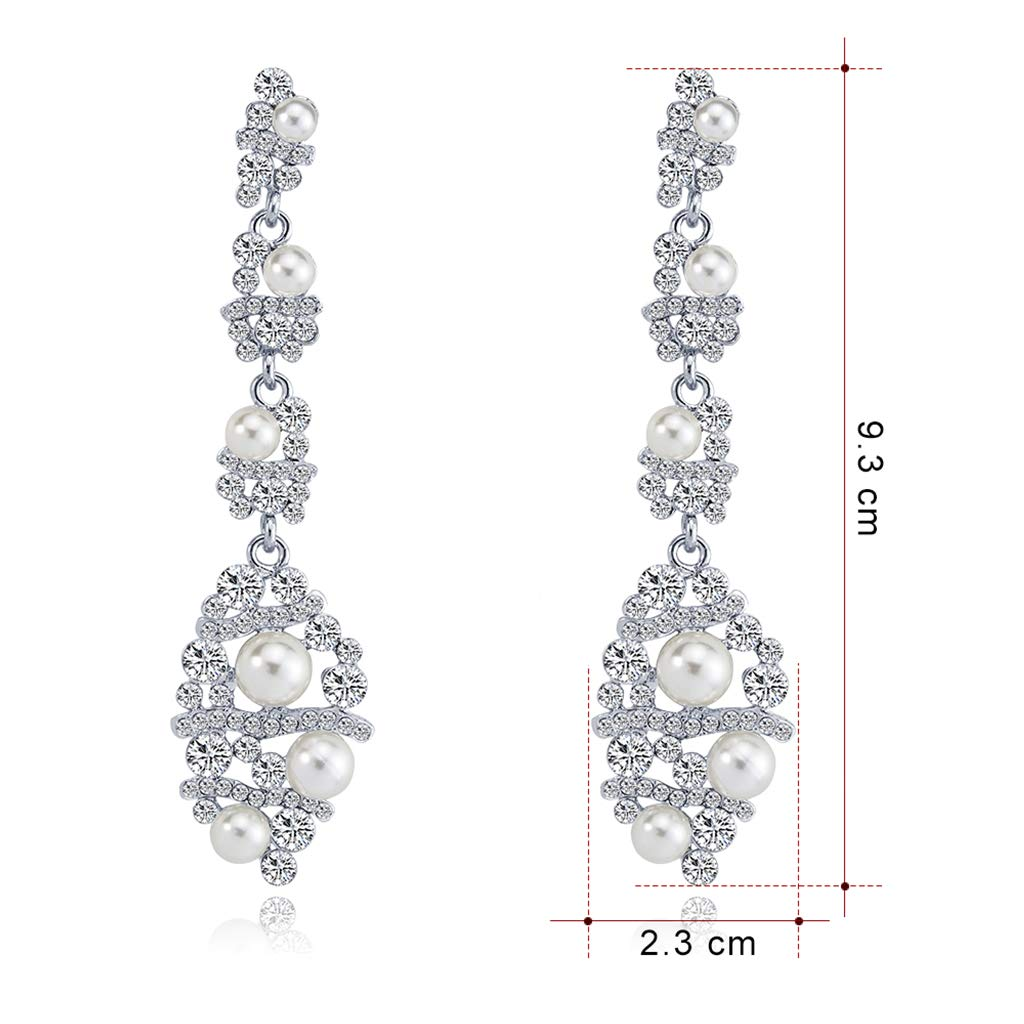 7c84bdb08 Buy Sensin BA269-A alloy inlaid pearl bride stud earrings - silver Online  at Low Prices in India | Amazon Jewellery Store - Amazon.in