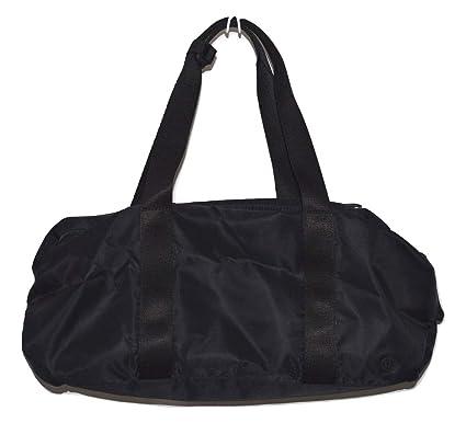 062dfc4d9064 Amazon.com  Lululemon Midnight Black Waterproof Travel Luggage Yoga Fast  Track Duffel Bag  Sports   Outdoors