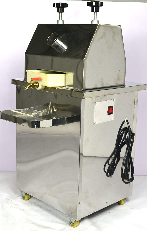 INTBUYING Commercial Sugar Cane Juicer Electric Sugar Cane Press Juicer Three Rolls 126LB