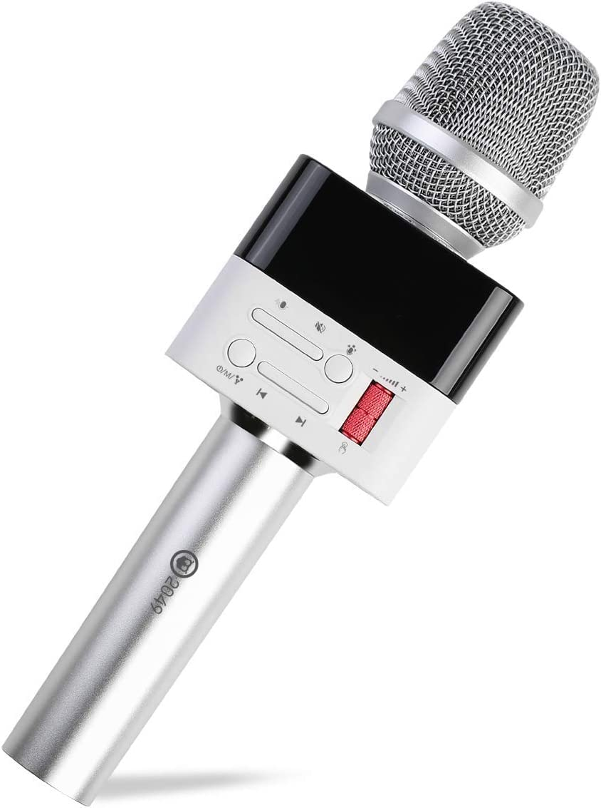 2049 X50 12w Cardioid Dynamic Karaoke Microphone, Handheld Wireless Bluetooth Karaoke Systems Karaoke Machine for Home/Outdoor/Party/Classroom/Wedding/Car Compatible with Smart phone/PC/Mp3/Mp4/TV