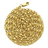 LoveBling 10K Yellow Gold 3mm TURKISH CHAIN NECKLACE w/Lobster Lock (22 inch): more info