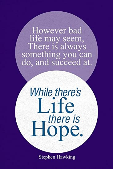 LIFE INSPIRATIONAL MOTIVATIONAL  HAVE HOPE QUOTE POSTER PRINT PICTURE