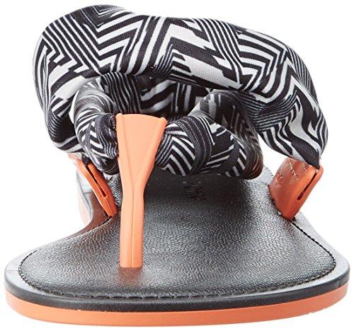 Zaxy Vibe Sandal Fem - tira en talón Mujer negro (negro/blanco)