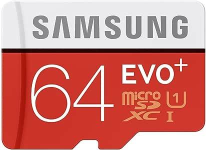 Samsung 64GB EVO Plus microSDXC CL10 UHS-1 Memory Card Speed up to 80MB/sec Model MB-MC64D