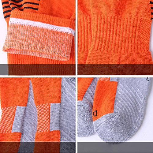 Bleu Lymocha 1 Paire Chaussettes Homme de Football Chaussettes Hautes Semelle /épais Qualite Adult Socks Socquette Sport Femme