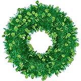Amscan 1 Count Jumbo Wreath, 17'', Green