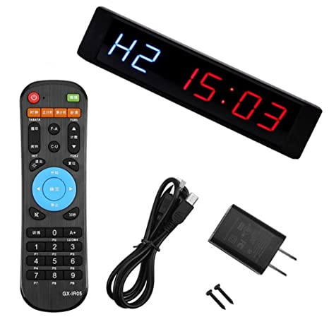 Huanyu AC 110V-230V - Reloj de pared programable con temporizador de intervalos y mando