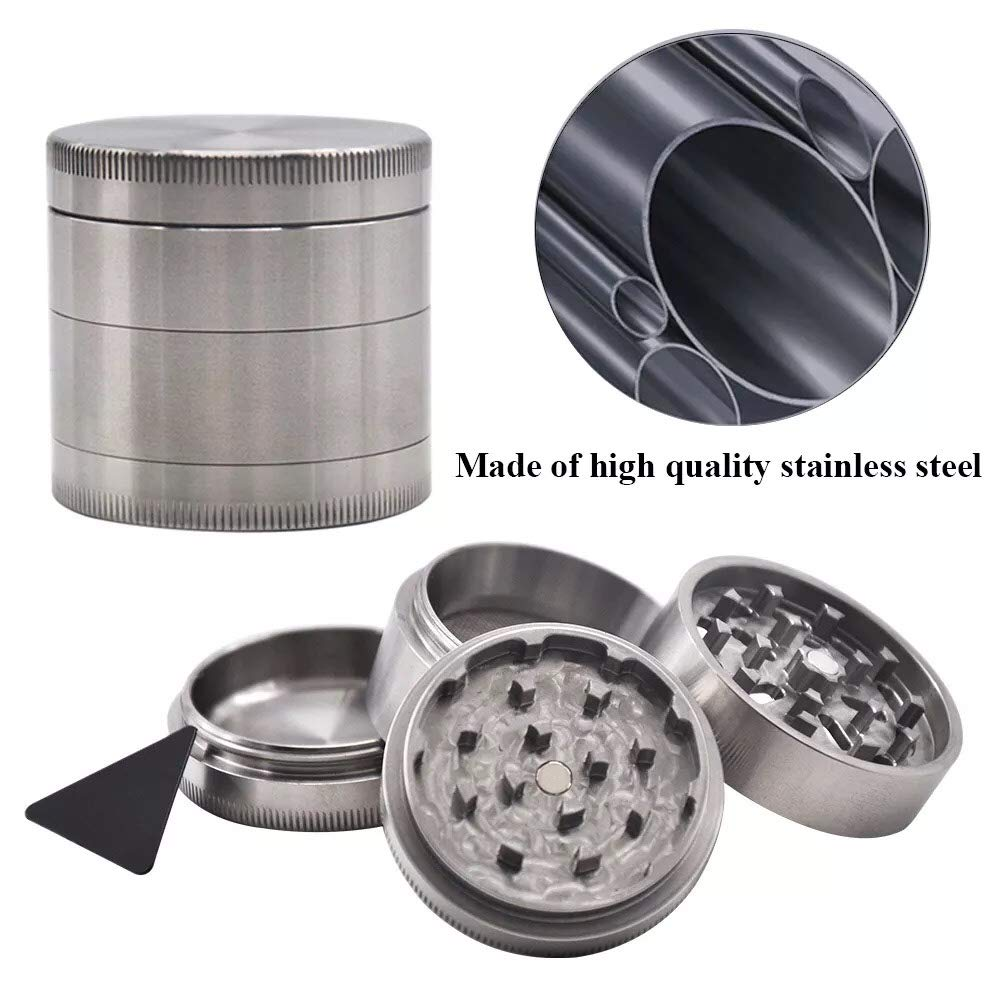 HONEYPUFF''304 Stainless Steel'' Herb Grinder Crusher Spice Grinder 47MM Spice Crusher Hand Muller by Honeypuff