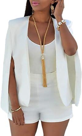 Blazer Mujer Fashion Elegantes Abierto Chal Camisa Primavera Basic Otoño Negocios Party Slim Fit Chaqueta De Traje Corto Abrigos Unicolor Ropa: Amazon.es: Ropa y accesorios
