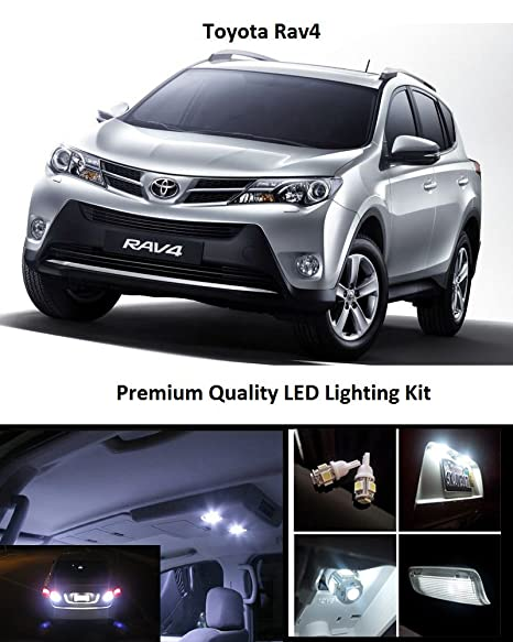 EliteTech 2006-2019 Toyota Rav4 Premium LED Package Xenon White - Interior + License Plate