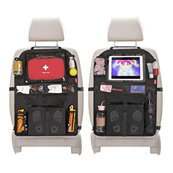Kick-Matten-Schutz Autositz-Schoner 2 pcs Auto Rücksitz-Organizer für Kinder