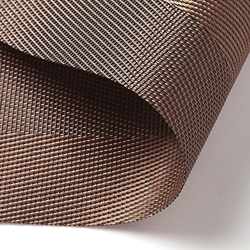 Large Product Image of Homcomoda Vinyl Placemats Heat Resistant Dining Table Mats Non-slip Washable Place Mats, A-brown, Set of 6