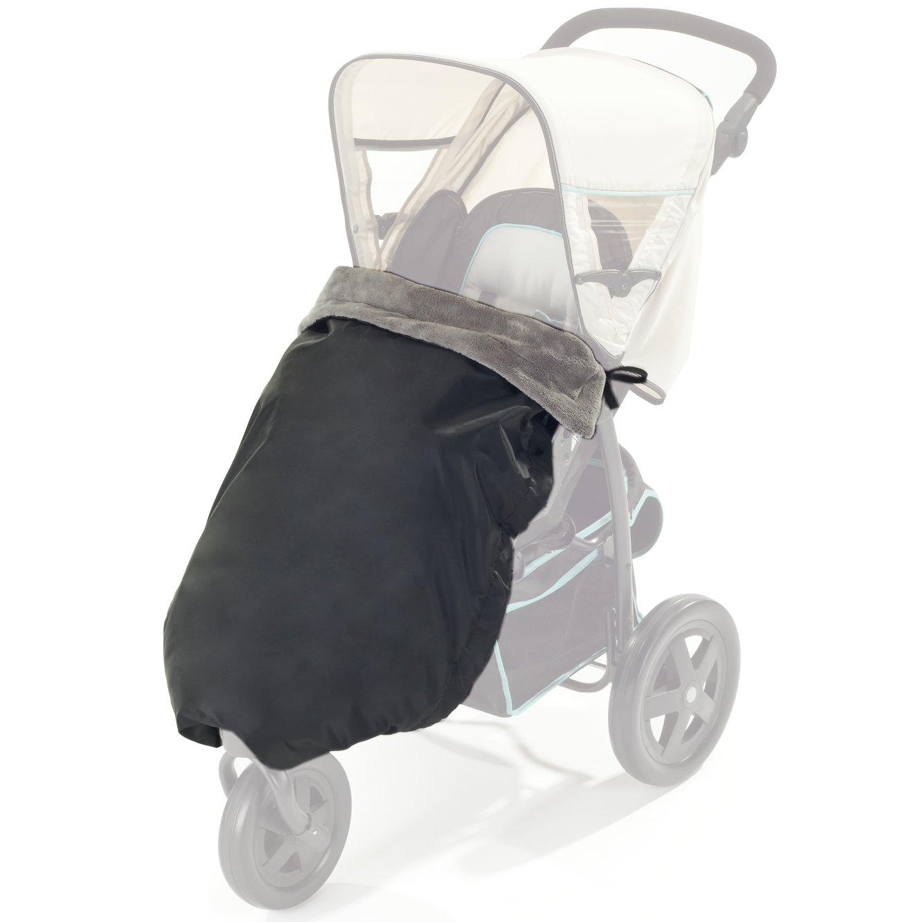 DIAGO 30055.90771 - Manta térmica para cochecito de bebé (100 x 75cm), color negro y gris