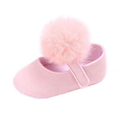 hunpta , Chaussures premiers pas pour bébé (fille) rose rose 6~12 Month