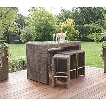 Amazonde Dorset Rattan Gartenmöbel Bar Set