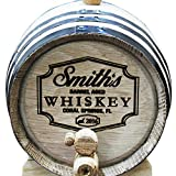 Custom Engraved Oak Whiskey or Wine Barrel - 3 Liter - Personalized for Free with Barrel Aged Design