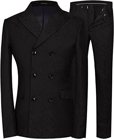 Michealboy 2-Piece Slim fit One Button Shawl Lapel Fashion Suit