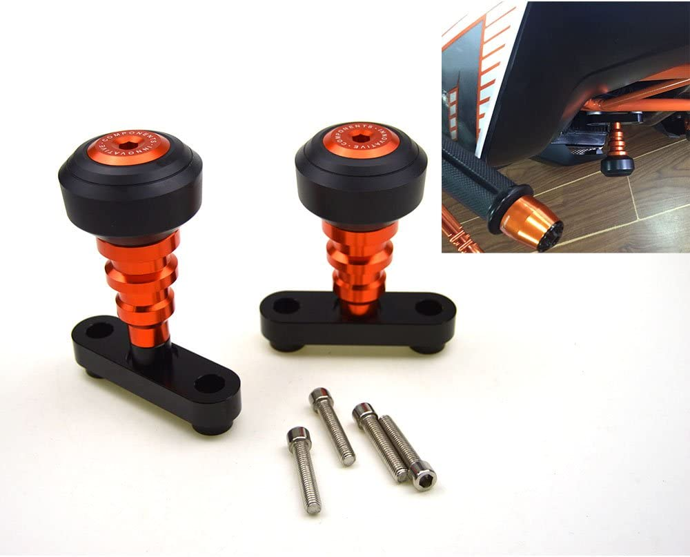 Neuf Orange CNC curseurs de cadre protecteurs Guard pour KTM Duke 125/200/390/2012/13/14/15