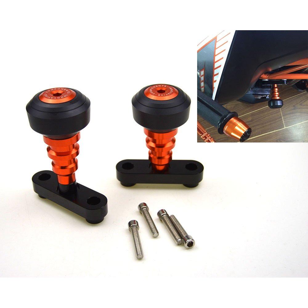 New Orange CNC Frame Sliders Protectors Guard For KTM DUKE 125 200 390 2012 -2017 YANGHUA