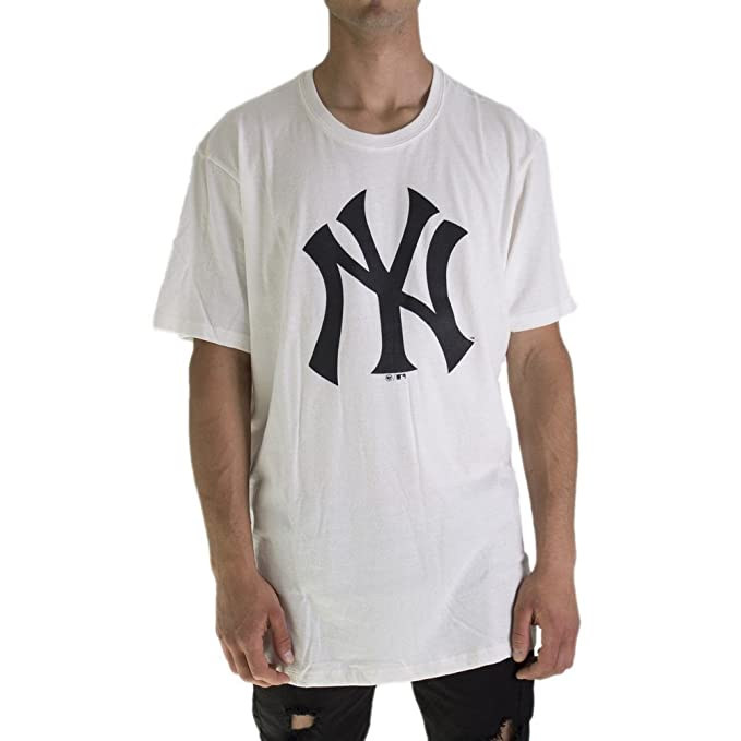 47 brand T-Shirt MLB New York Yankees Beige Formato  M (Medium ... 2c9dd5d5913e