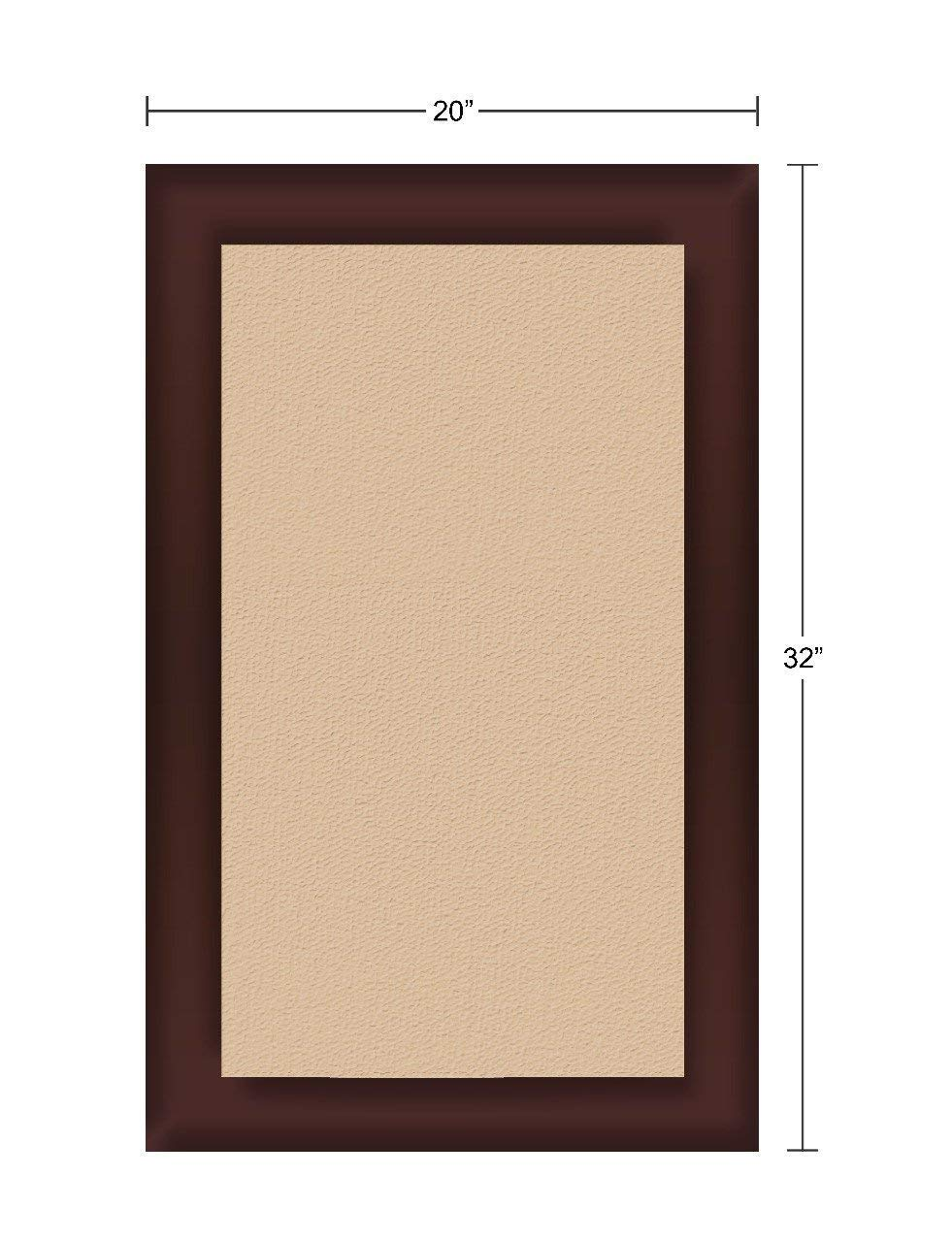 Magnificent Memory Foam Kitchen Mat, 20 X 32 inch, Bath Mat, Bedroom Mat, Non-slip Mat - Soft and stylish - Brown