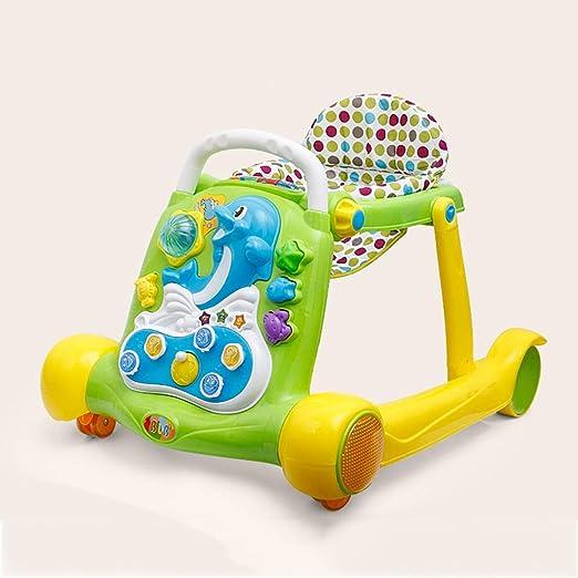 LFY Andadores para bebés: antivuelco, fácil de Plegar Altura del ...