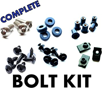 Fasteners Black Complete Motorcycle Fairing Bolt Kit For Suzuki GSX-R1000 2007-2008 Body Screws and Hardware