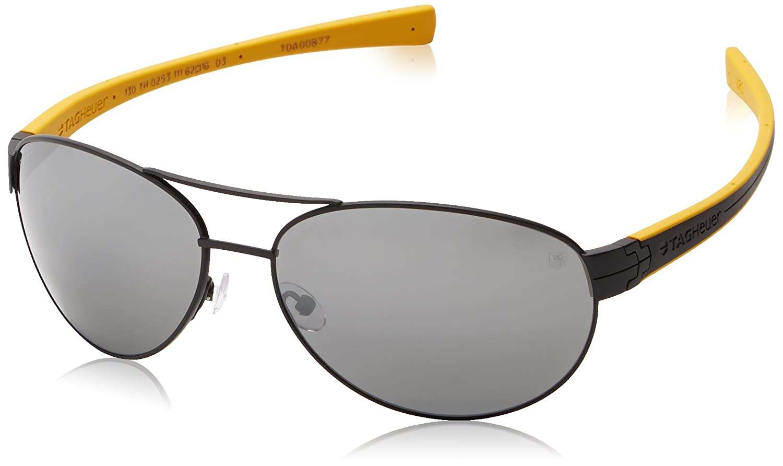 Amazon.com: Tag Heuer lrs253111 Aviator anteojos de sol ...