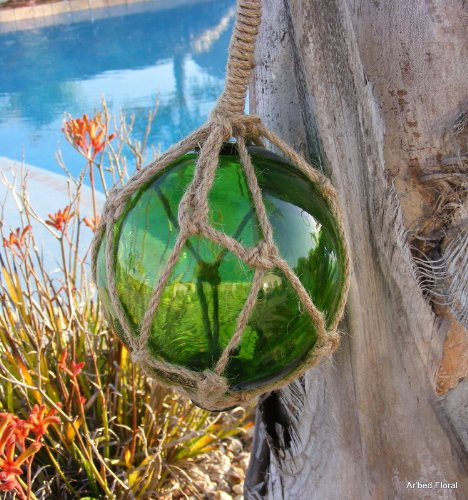 Green Glass Float Nautical Fishing