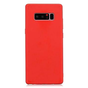 cuzz Funda para Samsung Galaxy Note 8+{Protector de Pantalla de Vidrio Templado} Carcasa Silicona Suave Gel Rasguño y Resistente Teléfono Móvil ...