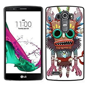 """For LG G4 Case , Monster Bruja Nativo Voodoo Doll cráneo"""" - Diseño Patrón Teléfono Caso Cubierta Case Bumper Duro Protección Case Cover Funda"""