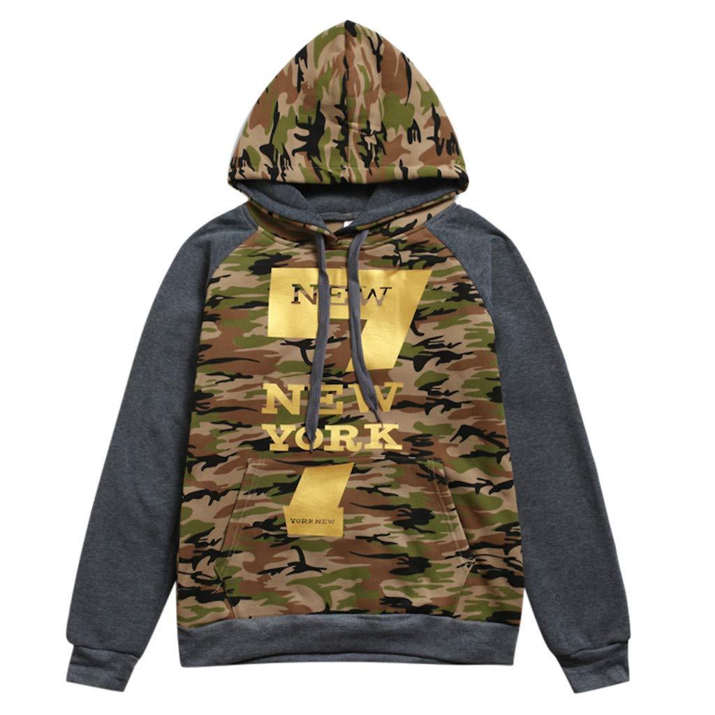 AcisuHu Newest Men Novelty Casual Hoodies 3D Digital Print Camouflage Prints New York Sweatshirt Pockets Pullover Hoodie