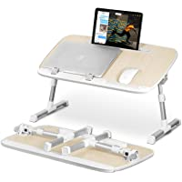 Laptop Stand Desk Table for Bed with Tablet Holder Slot, Bingkers Foldable Standing Bed Trays Lap Desk for Laptop and…